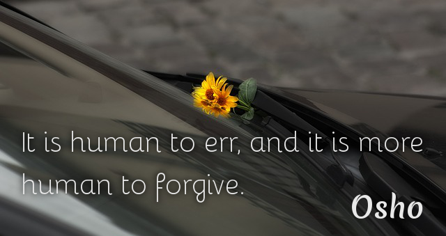 It is more human to forgive