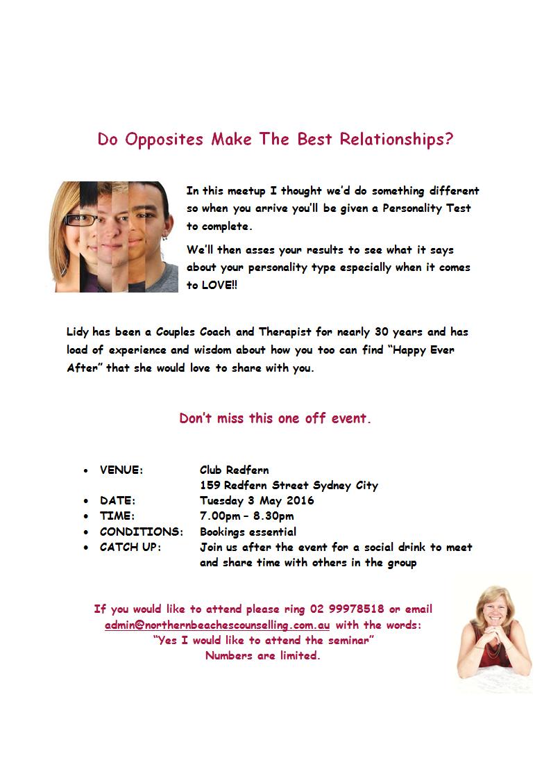 Do Opposites Make the Best Relationships?